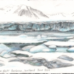 "Arctic fieldnote, 5""x 7"" pencil on paper, 2014 (Sold)"