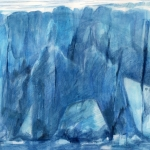"""""""Ice Bear"""" 9"""" x 12"""" water media on paper, 2015 (Available)"""