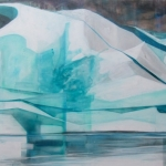 "Elizabeth Blau,""Nightfall"", 36"" x 80"" Acrylic on Canvas, Completed April 2013 (Available)"