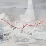 "Elizabeth Blau, ""Redlining"", 36"" x 80""  Acrylic on canvas, 2012 (Available)"