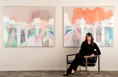 Elizabeth Blau with 'Mansion 1 & 2', 2009 Photo by Studio West Photography